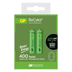 GP Batteries Rechargeable Smart Energy ReCyko+ 400 Series 400mAh AAA Battery (Pack 2) - GP40AAAHCETH-2