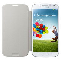 Samsung Galaxy S4 Flip Cover (White)