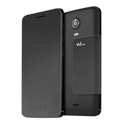 Wiko Folio Stand Back Cover Case for Wiko WAX 4G Smartphone (สีดำ) - 3700738101587