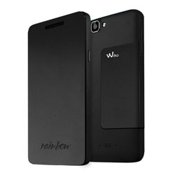 Wiko Folio Support Cover Case for Wiko RAINBOW Smartphone (ดำ) - 3700738101716