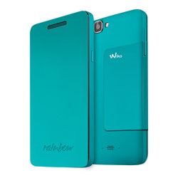 Wiko Folio Support Cover Case for Wiko RAINBOW Smartphone (สีฟ้า) - 3700738101730