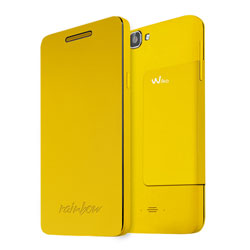 Wiko Folio Support Cover Case for Wiko RAINBOW Smartphone (สีเหลือง) - 3700738101754