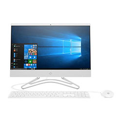 HP 22-c0041d All-in-One PC (Intel Core i3-8100T Processor 3.1GHz, 4GB RAM, 1TB HDD, Windows 10 Home) (White) - 4LY73AA