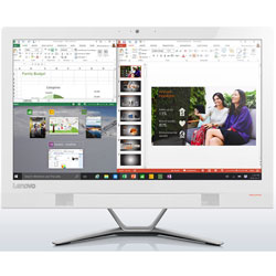 Lenovo IdeaCentre 300-20ISH All-in-One Desktop PC (Intel Core i3-6100T Processor 3.20GHz, 4GB RAM, 1TB HDD, Windows 10) (White) - F0BV004CTA