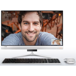 Lenovo IdeaCentre 520-24IKL All-in-One PC (Intel Core i7-7700T Processor 2.90GHz, 4GB RAM, 1TB HDD, Windows 10) (Silver) - F0D10037TA