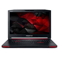 Acer Predator G9-793-75V1 Laptop Notebook (Intel Core i7-7700HQ Processor 2.8GHz, 16GB RAM, 1TB HDD + 128GB SSD, Windows 10) (Black) - NHQ1TST001