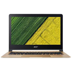 Acer Swift7 SF713-51-M25X Laptop Notebook (Intel Core i7-7Y75 Processor 1.30GHz, 8GB RAM, 256GB SSD, Windows 10 Home) (Black/Gold) - NXGK6ST002
