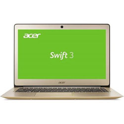Acer Swift SF314-51-788Y Laptop Notebook (Intel Core i7-7500U Processor 2.70GHz, 8GB RAM, 512GB SSD, Linpus Linux) (Luxury Gold) - NXGK3ST009