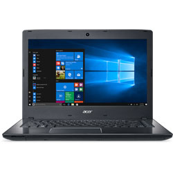 Acer TMP249-M-37R4 Laptop Notebook (Intel Core i3-6100U Processor 2.3GHz, 4GB RAM, 1TB HDD, Windows 7) (Black) - UNVD4ST013