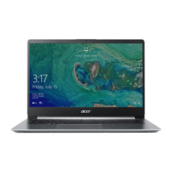 Acer Swift1 SF114-32-P7YK Laptop Notebook (Intel Pentium Silver N5000 Processor 1.10GHz, 4GB RAM, 128GB SSD, Windows 10) (Sparkly Silver) - NXGXVST002
