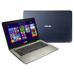 ASUS K455LN-WX029D Laptop Notebook (Intel Core i5-5200U Processor 2.2GHz, 4GB RAM, 1TB HDD, Dos) - Blue metal