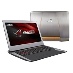 ASUS G752VT-GC129T ROG Gaming Laptop Notebook (Intel Core i7-6700HQ 2.6 GHz, 16GB RAM, 1TB HDD + 256GB SSD, Windows 10) (Grey)