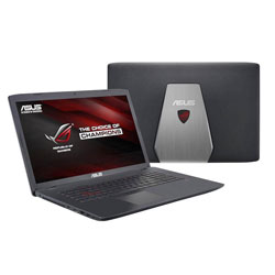 ASUS GL752VW-T4152D ROG Gaming Laptop Notebook (Intel Core i7-6700HQ Processor 2.6GHz, 8GB RAM, 1TB HDD, Dos) - Black