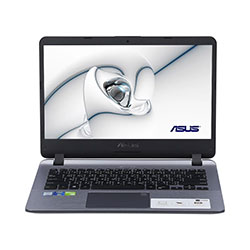 Asus X407UF-BV010T Laptop Notebook (Intel Core i5-8250U Processor 1.6GHz, 4GB RAM, 1TB HDD, Windows 10 Home) - Stary Grey