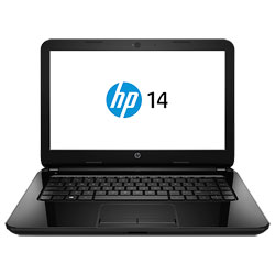 HP 14-g110AU Laptop Notebook (AMD E1-6010 1.35GHz, 2GB RAM, 500GB HDD, Dos) (Sparkling Black) - L8N08PA
