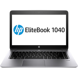 HP Elitebook Folio 1040 G2 1040G2-257TU Laptop Notebook (Intel Core i5-5200U 2.2 GHz, 4GB RAM, 256GB SSD, Windows 8.1) (Platinum Silver) - M2Q57PA