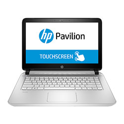 HP Pavilion TouchSmart 14-v224TX Laptop Notebook (Intel Core i5-5200U 2.2GHz, 4GB RAM, 1TB HDD + 8GB NAND, Windows 8.1) (Snow White) - L0L47PA