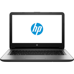 HP 14-am001TU Laptop Notebook (Intel Pentium N3710 1.6GHz, 4GB RAM, 500GB HDD, Dos) (Turbo Silver) - W0J30PA