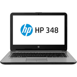 HP 348 G3 348G3-563TU Laptop Notebook (Intel Core i7-6500U 2.50 GHz, 8GB RAM, 1TB HDD, Dos) (Black) - W5S63PA