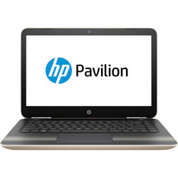 HP Pavilion 14-al004TX Laptop Notebook (Intel Core i7-6500U 2.5GHz, 8GB RAM, 1TB HDD, Dos) (Modern Gold) - W0J25PA