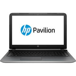 HP Pavilion 15-ab555TX Laptop Notebook (Intel Core i7-6500U 2.5GHz, 8GB RAM, 1TB HDD, Dos) (Natural Silver) - T9G73PA