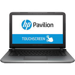 HP Pavilion TouchSmart 14-ab171TX Touch Screen Laptop Notebook (Intel Core i5-6200U 2.3GHz, 4GB RAM, 1TB HDD, Windows 10) (Blizzard White) - T9G78PA