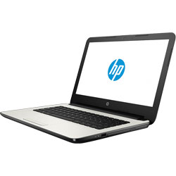 HP 14-am109TX Laptop Notebook (Intel Core i5-7200U Processor 2.5GHz, 4GB RAM, 1TB HDD, DOS) (White Silver) - Z1D45PA