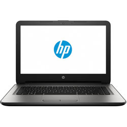 HP 14-an003AX Laptop Notebook (AMD Quad Core A8-7410 Processor 2.2GHz, 4GB RAM, 1TB HDD, Dos) (Turbo Silver) - X0G37PA