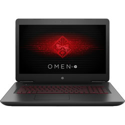HP Omen 17-w201TX Laptop Notebook (Intel Core i7-7700HQ Processor 2.8GHz, 16GB RAM, 2TB HDD + 128GB SSD, Windows 10 Home) (Black) - 1AD42PA
