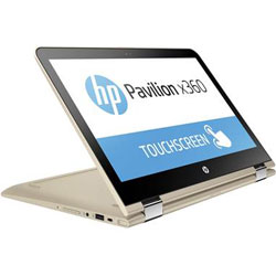 HP Pavilion x360 13-u111TU Touch Laptop Notebook (Intel Core i7-7500U 2.7GHz, 4GB RAM, 128GB SSD, Windows 10 Home) (Modern Gold) - Y8H76PA