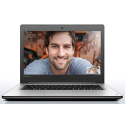 Lenovo IdeaPad 310-14IKB Laptop Notebook (Intel Core i5-7200U 2.5GHz, 4GB RAM, 1TB HDD, Dos) (White) - 80TU009NTA