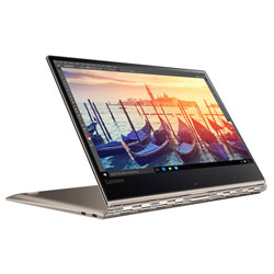 Lenovo IdeaPad Yoga 910-13IKB Touch Laptop Notebook (Intel Core i7-7500U 2.7GHz, 16GB RAM, 512GB SSD, Windows 10) (Champagne Gold) - 80VF002HTA