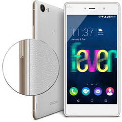 Wiko Fever 4G LTE 2-SIM Android Smartphone (White/Gold) - 69432794-08419