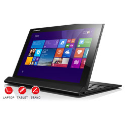 Lenovo MIIX 3-1030 Tablet (Intel BayTrail Z3735F Processor up to 1.83 GHz, 2GB RAM, 32GB eMMC, Windows 8.1) - Black (80HV002LTA)