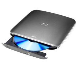 LG Blu-Ray Disc Rewriter Super Multi Blue Slim Portable with 3D BLU-RAY DISC Playback & M-DISC Support - BP40NB30