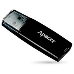 Apacer Handy Steno AH322 16GB Pen Cap USB 2.0 Flash Drive (Black) - AP16GAH322B-1