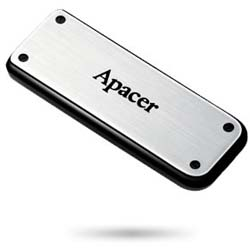 Apacer Handy Steno AH328 32GB Retractable USB 2.0 Flash Drive (Sliver) - AP32GAH328S-1