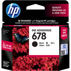HP No. 678 Black Original Ink Advantage Cartridge (CZ107AA)