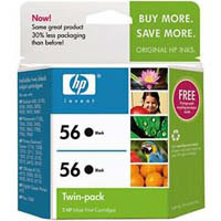 HP No. 56 Black Ink Cartridge (Twin Pack) - CC620AA