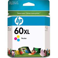 HP No. 60XL Tri-Color Ink Cartridge - CC644WA