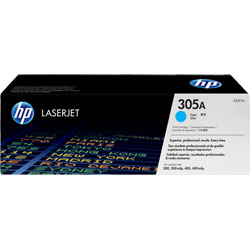 HP No. 305A Cyan Original LaserJet Toner Cartridge (CE411A)