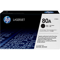 HP No. 80A Black Original LaserJet Toner Cartridge (CF280A)