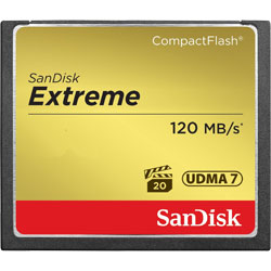 SanDisk Extreme 120MB/s CompactFlash Card 8GB/16GB/32GB