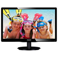 "Philips 206V4LSB2/00 20"" LED Monitor 5ms 1600x900 DVI BLACK"