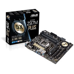ASUS Z97M-PLUS LGA1150 Intel Z97 Motherboard