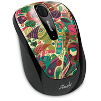 Microsoft Wireless Mobile Mouse 3500 BlueTrack™ Limited Edition Artist Series (Artist Zansky) - GMF-00260