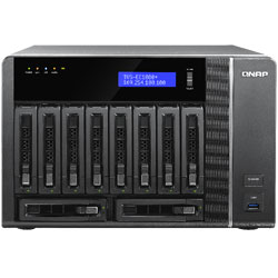 QNAP TVS-EC1080+ 10-Bay Network Attached Storage NAS Server (Intel Xeon E3) - TVS-EC1080+E3