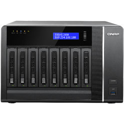 QNAP TVS-EC880 8-Bay Network Attached Storage NAS Server (Intel Xeon E3) - TVS-EC880-E3