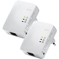 ZyXEL PLA4201 500 Mbps Mini Powerline Ethernet Adapter - Twin Pack