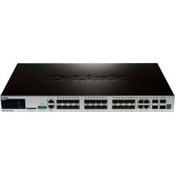 D-Link DGS-3420-28SC 28-Port Gigabit SFP L2+ Stackable Managed Switch